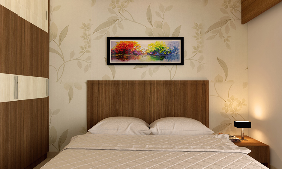 Brown almirah direction as per Vastu in the southwest direction and colour element enhance the calm vibe.