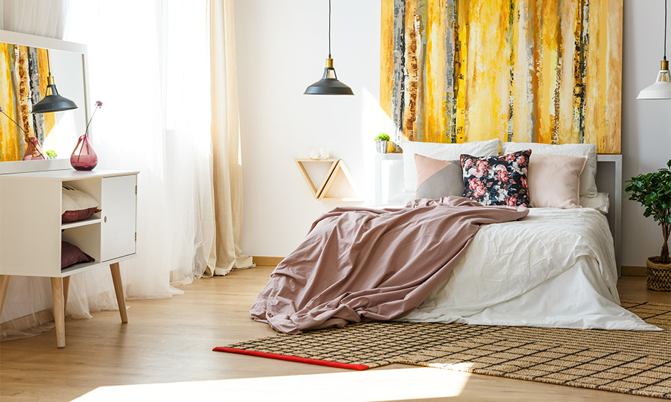 Almirah with mirror Vastu placed away from the bed for auspicious as per Vastu