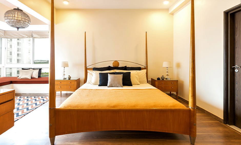 Vastu for bed, Wooden double bed with single mattress used for positive energies