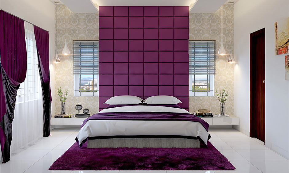 Bedroom window design idea, bedroom with two casement windows adds a statement to the area.