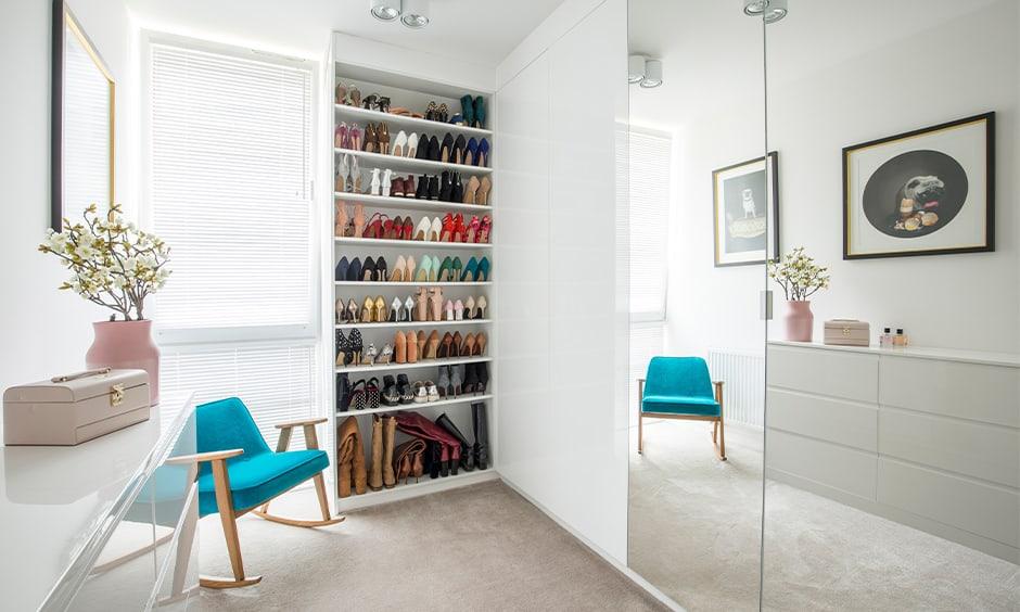 Glamorous wooden shoe rack design