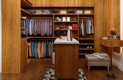 Gorgeous wardrobe inside design for bedroom