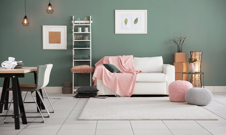 Wall painting ideas with muted colours for living room