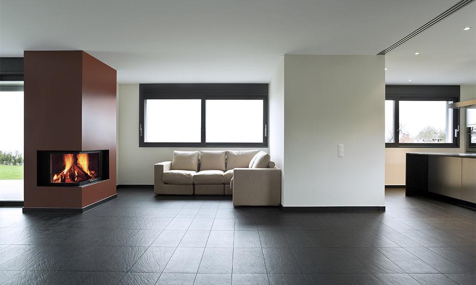 Black floor tiles and its benefits