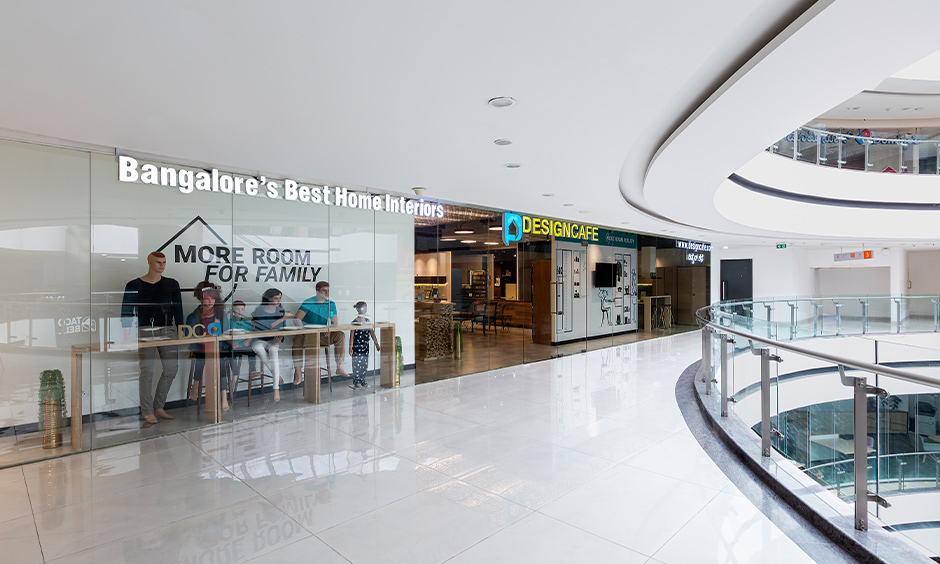 Design cafe experience center in whitefield