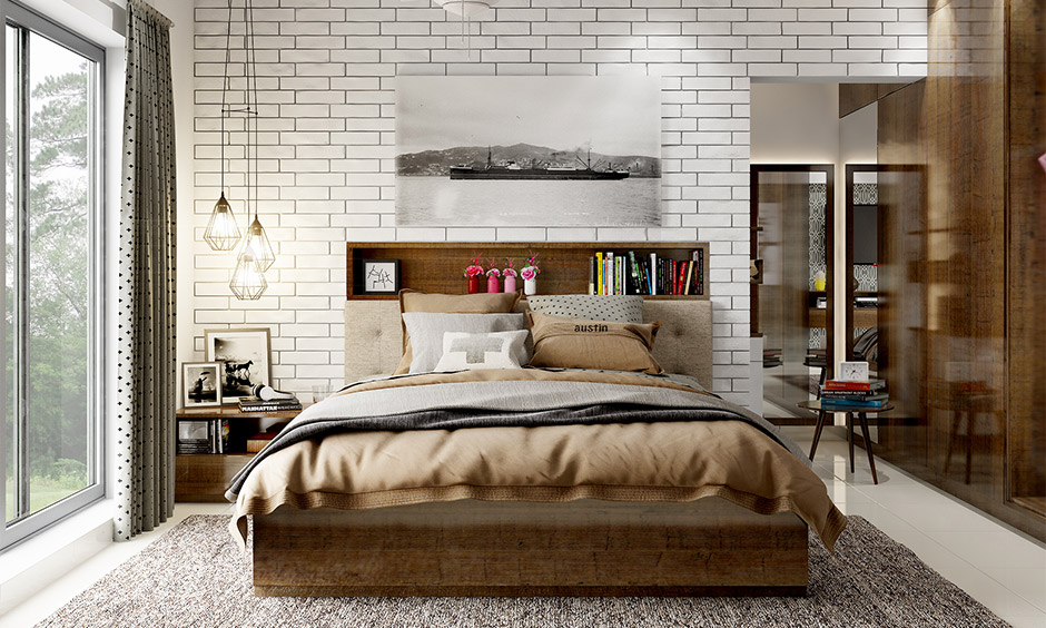 Hanging side led lights for bed in modern style brings a unique charm to the bedroom.