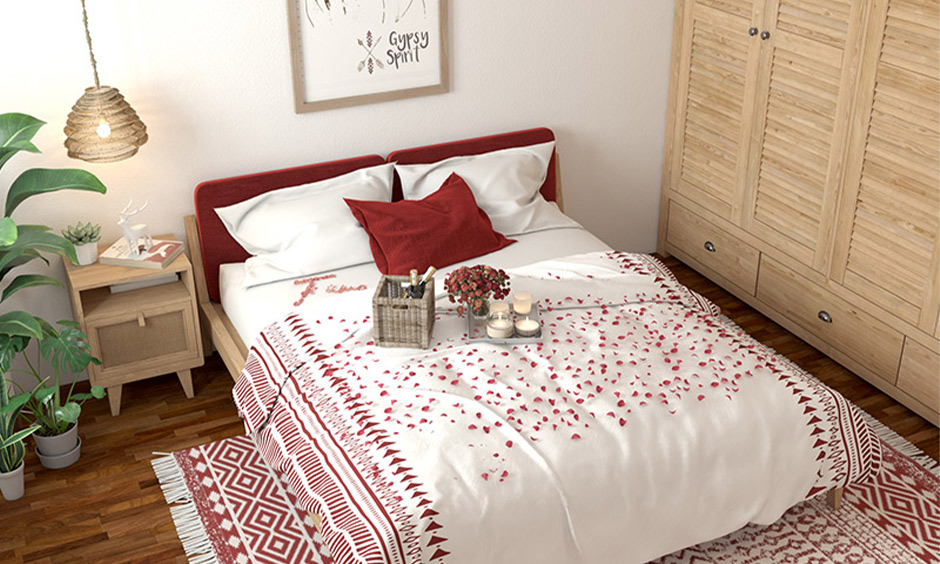 Vastu tips for bedroom for a married couple, Regular-shaped bedroom with double bed brings calmness to life.