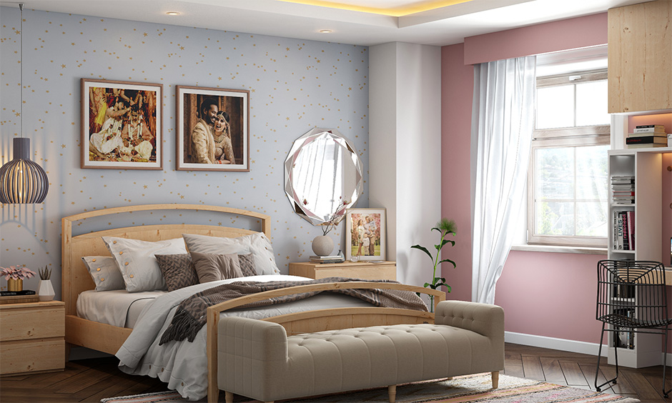 Vastu for couple photos in the bedroom placed in the east wall generates positive energies.