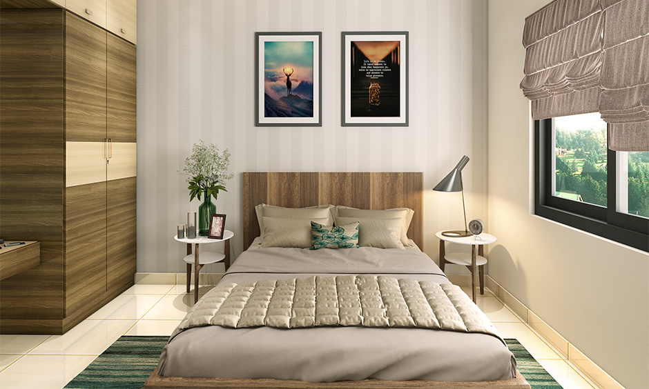 Bedroom Vastu for couples, wardrobe placed in the south direction brings in positive energies.