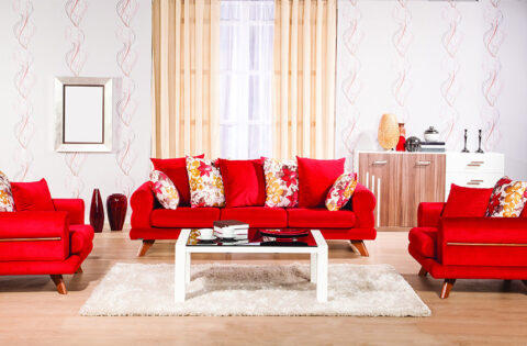 Red living room design ideas for your home