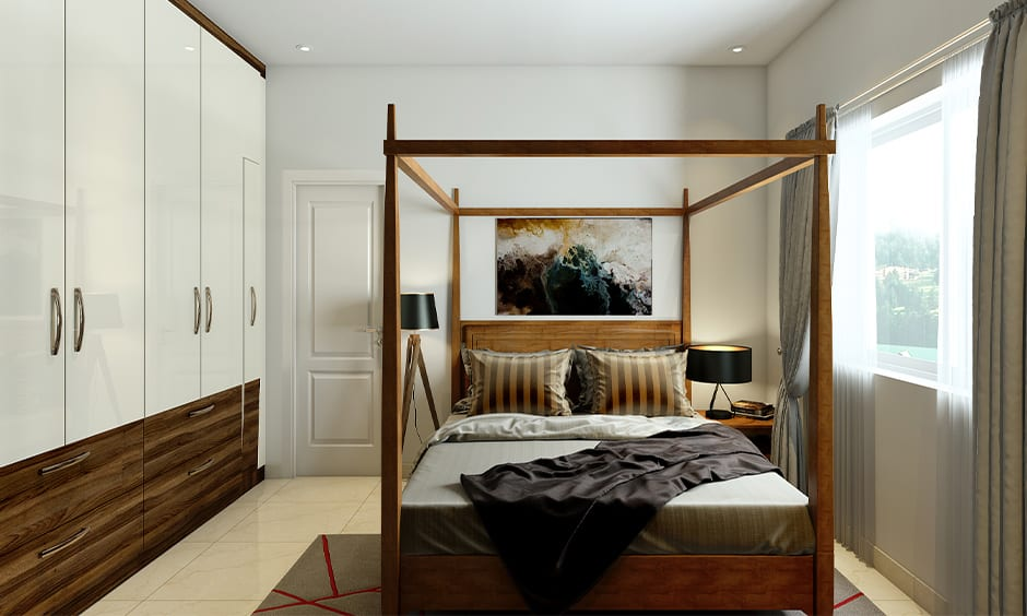 Wall of white bedroom wardrobe designs for your home