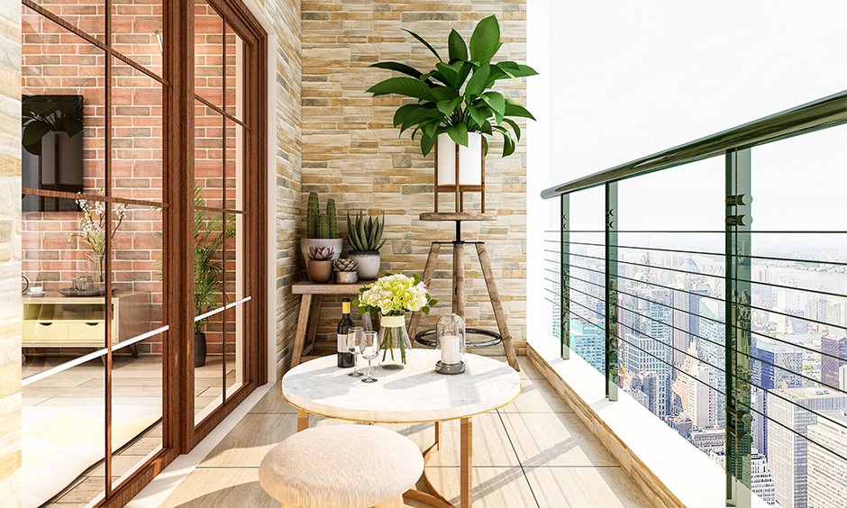 Balcony colour ideas which makes you feel at ease any time and any day