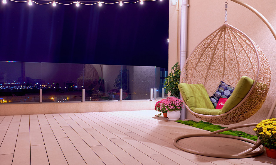 Cream and light colourful balcony ideas with vintage, modern and contemporary look for balcony colour