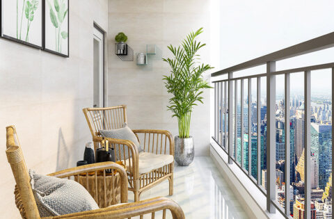 Balcony colour combination for your home