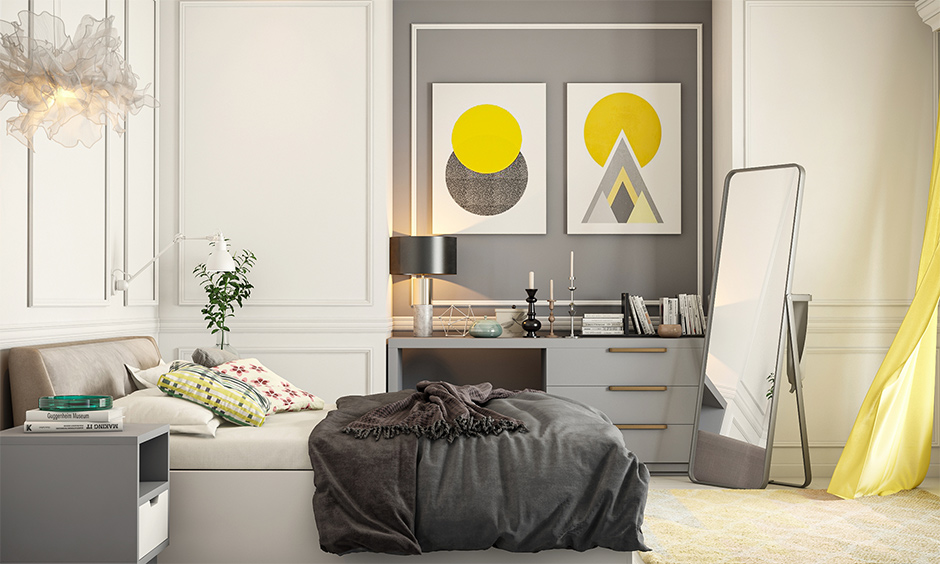 what is pantone color of the year with ultimate grey and illuminating yellow bedroom