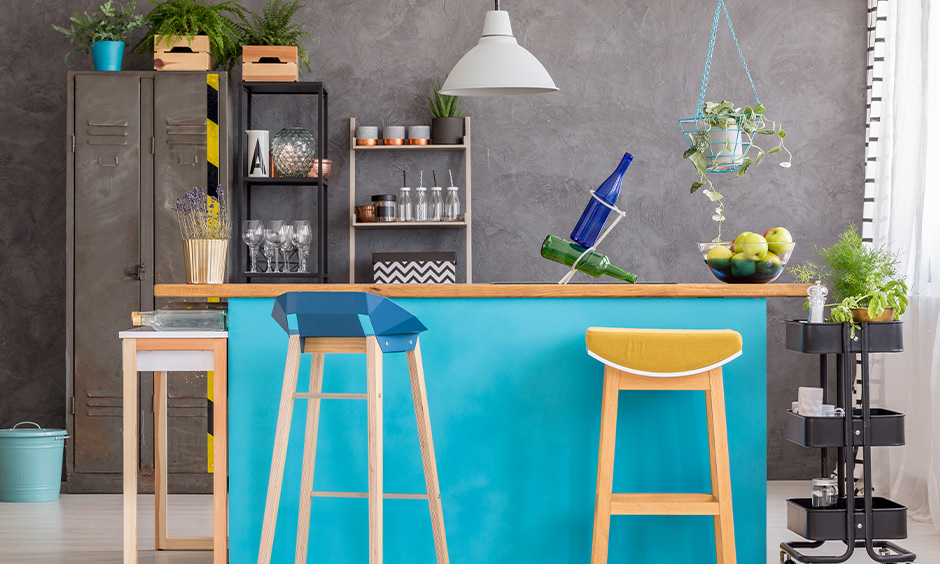 Metal kitchen island cart for your home