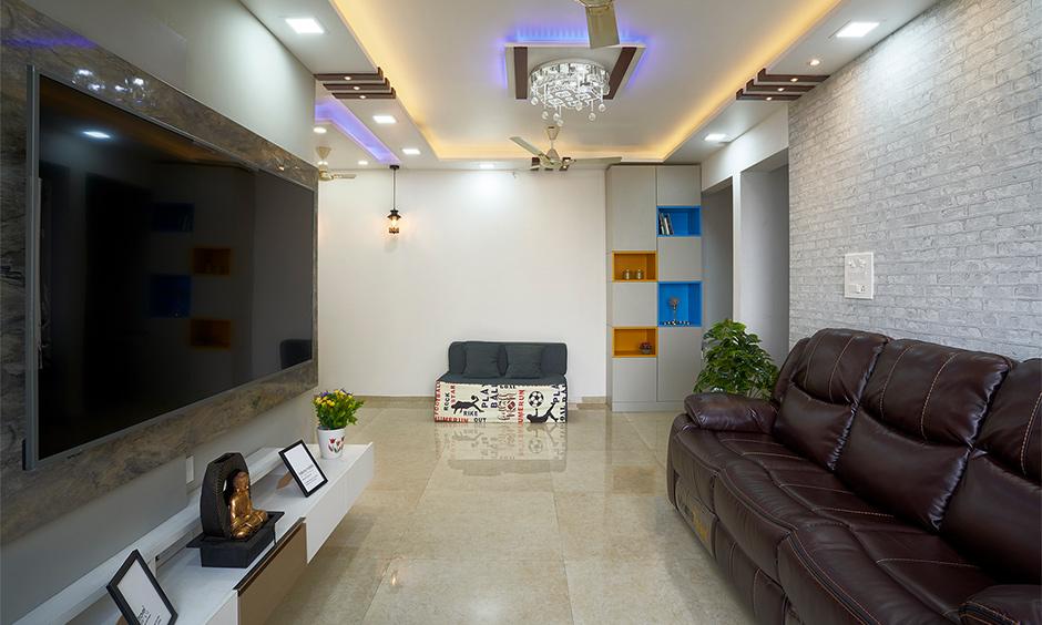 2.5bhk eclectic style home interior designer in dombivil mumbai