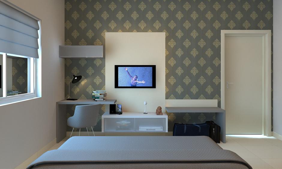 Wallpaper design for master bedroom with 3d wallpaper design