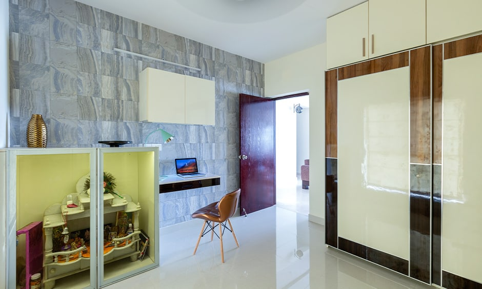 Study room wallpaper design for a compact modern home
