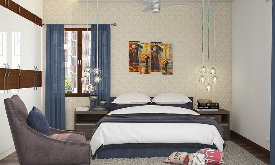 Bedroom table lamps that hover over the side table
