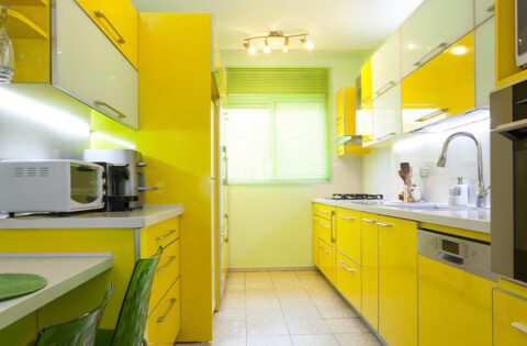yellow modular kitchen design for your home