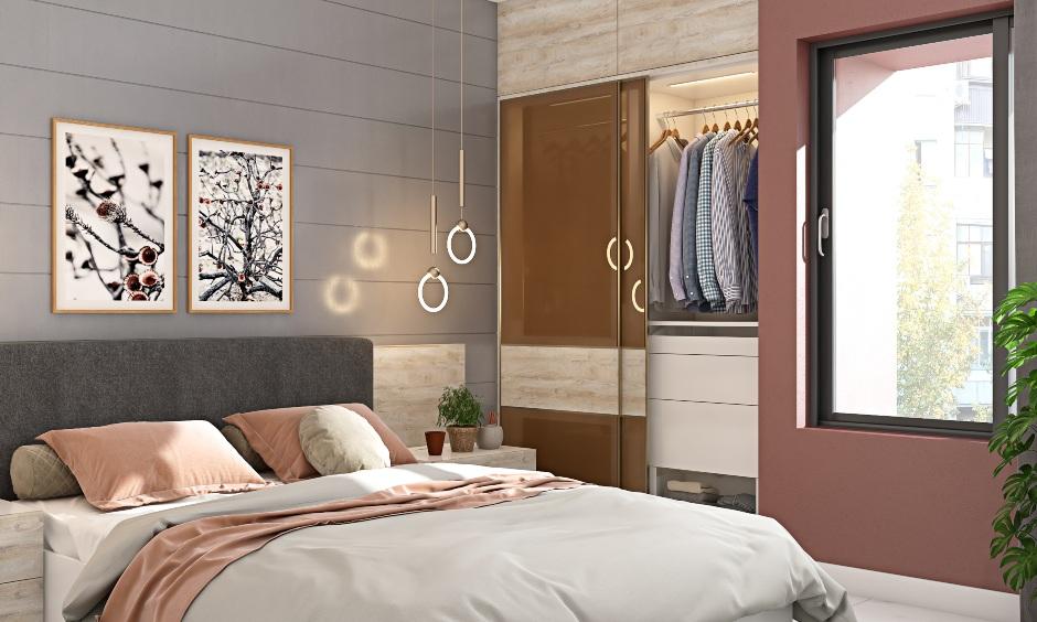 Bedroom interior design in 1 bhk apartment house design