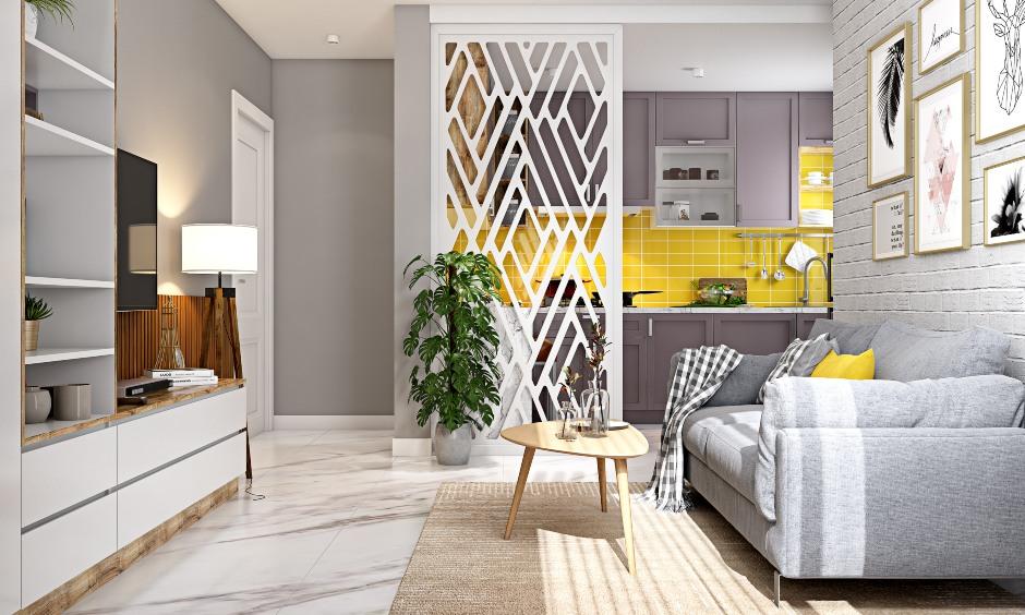 Living room design designed in 1bhk house design