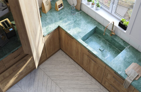 Beautiful marble kitchen sink for your home