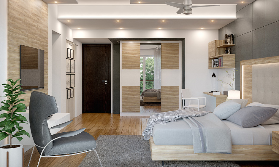 The Master bedroom placed in the southwest direction for auspicious is the north-facing house plan as per Vastu.