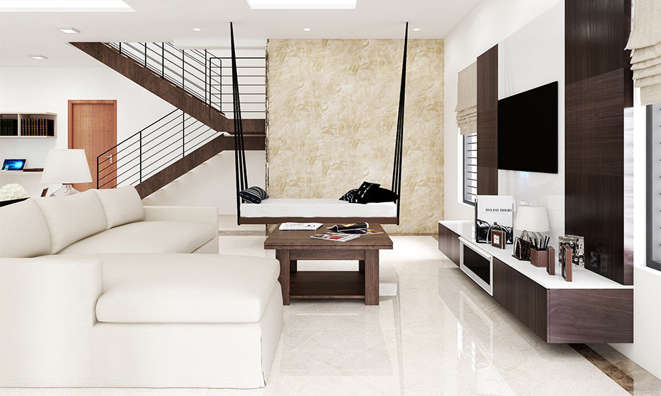 Granite flooring designs for hall and living room