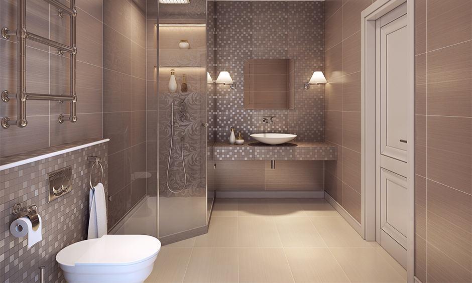 Art deco interior design for the bathroom