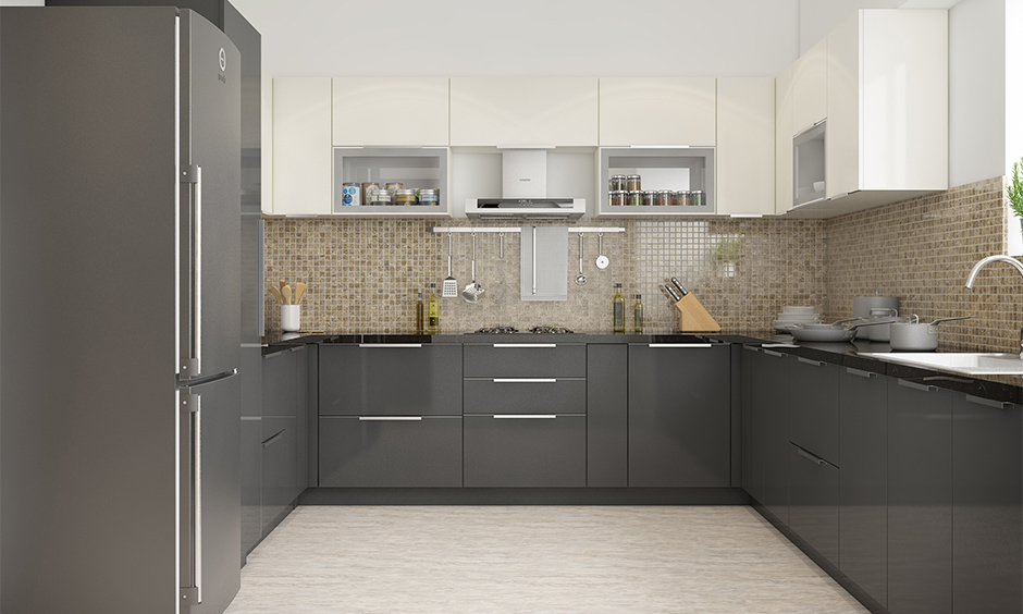 Latest interior design trends offsetting a dark charcoal grey with ivory
