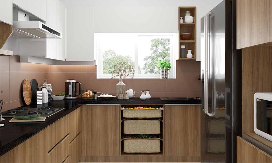 South indian l shaped modular kitchen design for compact urban homes