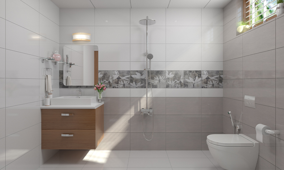 How to decorate a bathroom window, a small white bathroom window decorated with plantation shutters lends a sleek look.