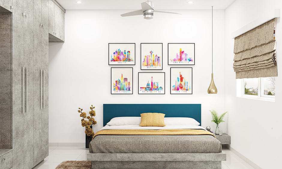 White is the best colour combination for bedroom walls according to vastu