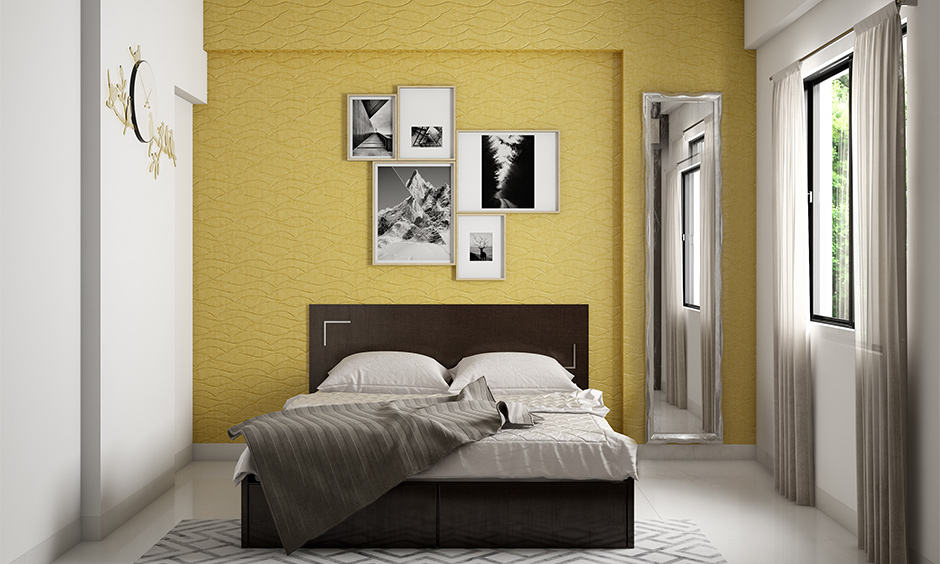 Yellow in colour combination for bedroom according to vastu