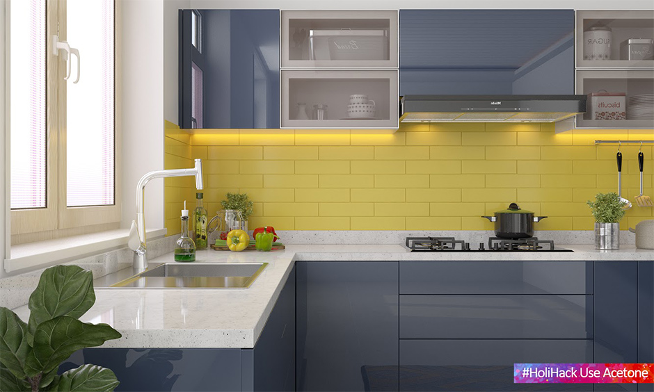 How to protect kitchen countertops from holi colours