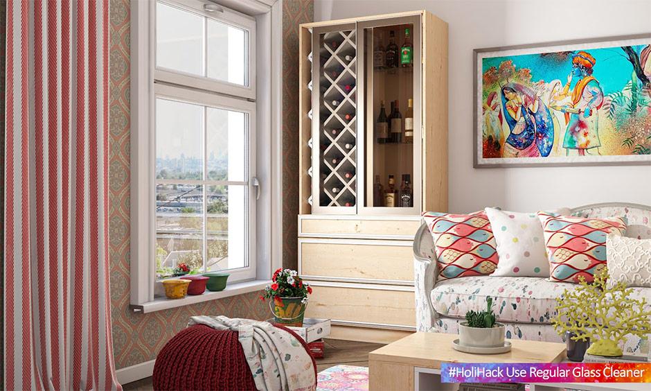 how to protect glass window form holi colour