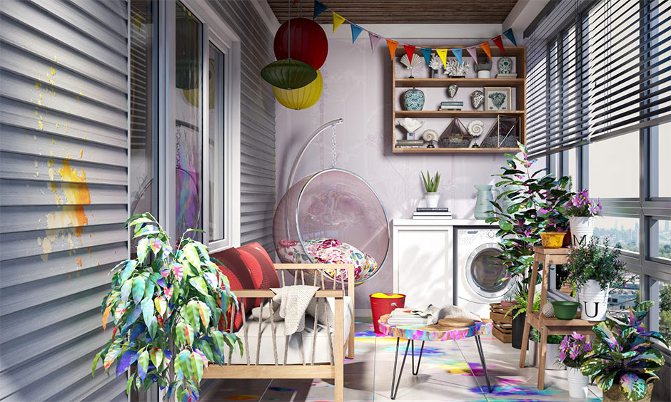 how to remove holi colours from balcony and plants