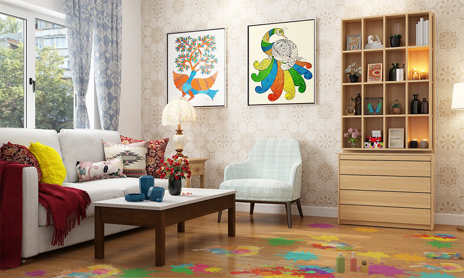 How to clean living room floor after holi celebration