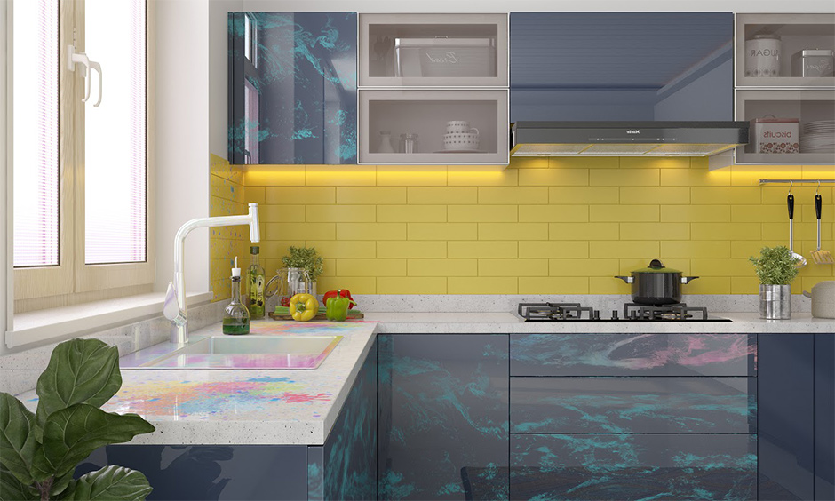 How to remove holi colours from kitchen countertops