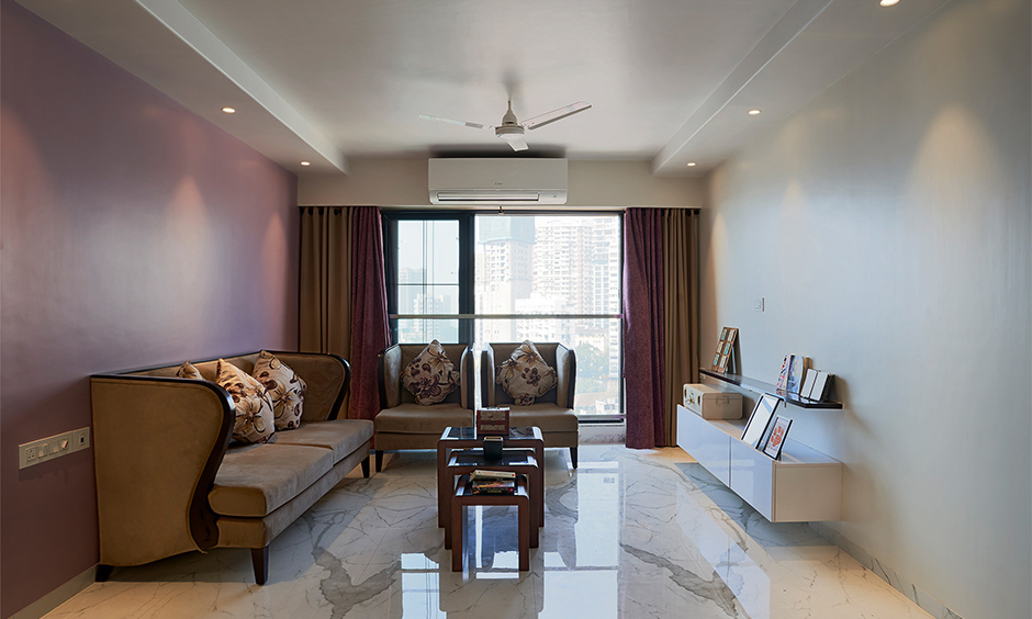 A classic living room designed by best residential interior designers in mumbai