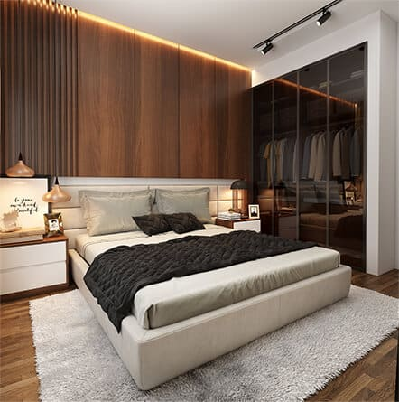 Interiors cost for 3BHK flat in Mumbai from best luxury home interiors company.