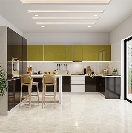 Italian kitchen design from best modular kitchen company in Hyderabad at best price.