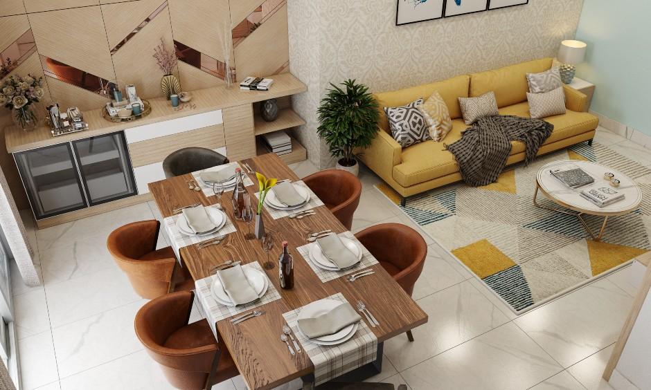 Elegant 1bhk home design with neutral tones