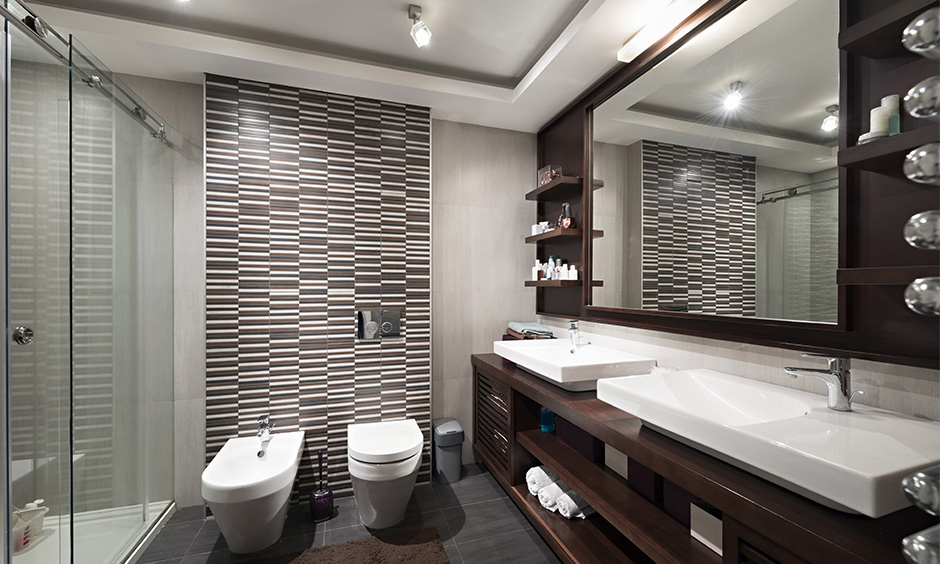 Modern bathroom tiles with graphic patterns  for your home