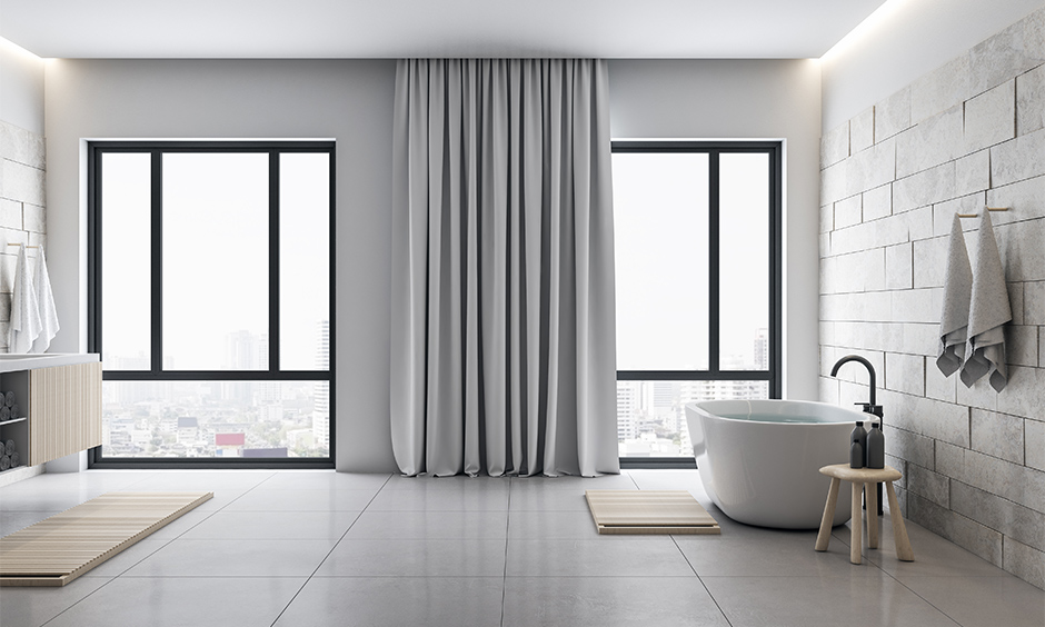 Pastel or neutral modern bathroom wall tiles design which heals you and keeps you going