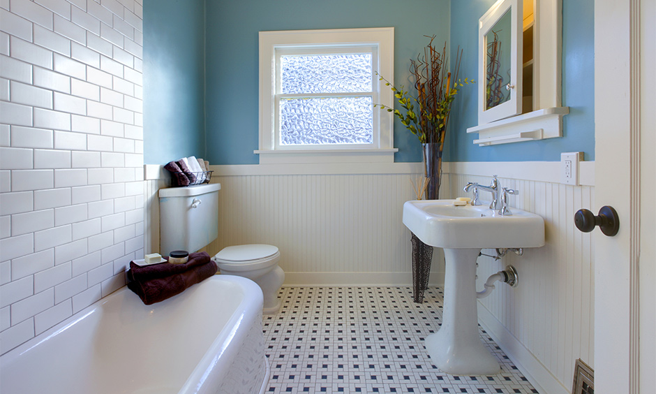 Modern tile bathroom with subway tile for your home