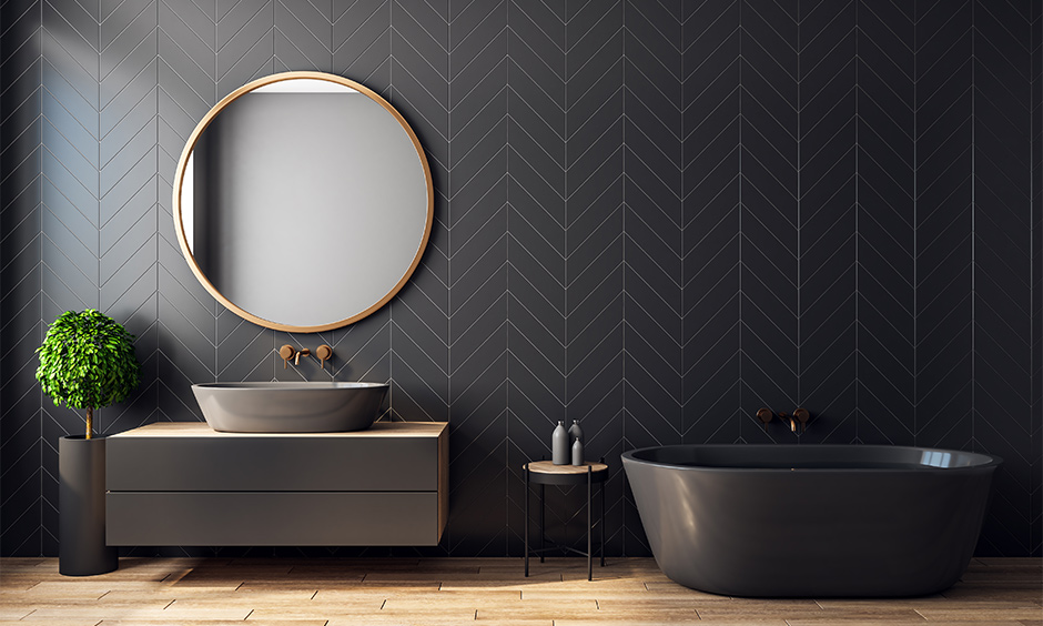 Wood look  modern bathroom tiles texture for your home with a marble finish
