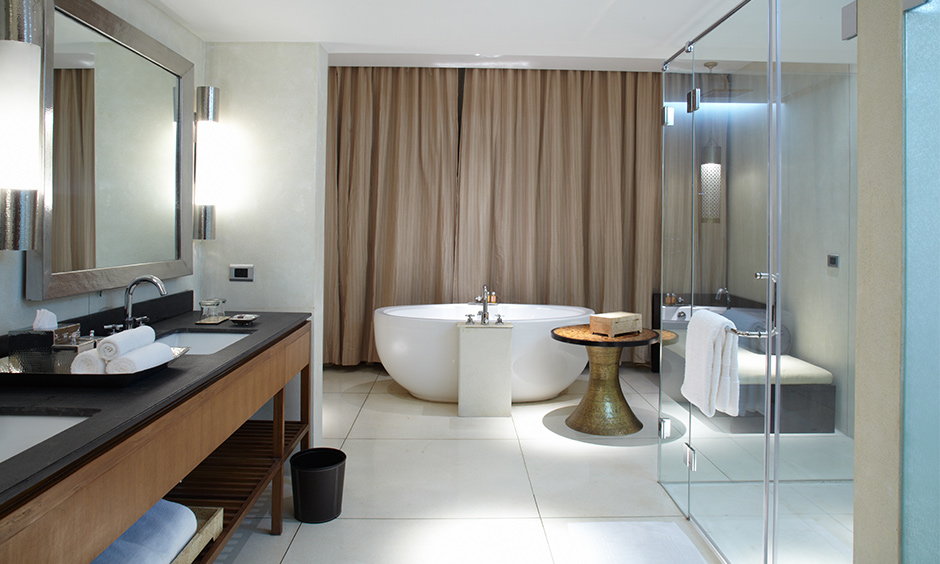 Large modern classy bathroom tiles which last for a very long time